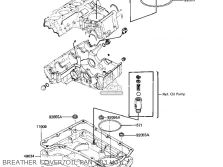 Kawasaki Kz650h3 Csr 1983 Usa Canada Breather Cover oil Pan 83 H3