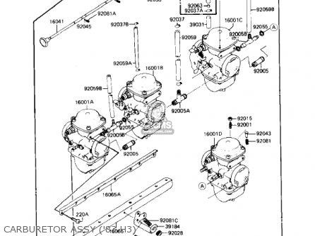 Kawasaki Kz650h3 Csr 1983 Usa Canada Carburetor Assy 83 H3