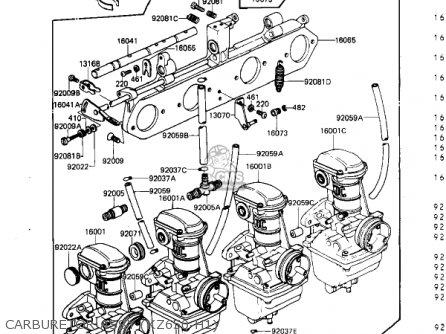 Kawasaki Kz650h3 Csr 1983 Usa Canada Carburetor Assy kz650-h1