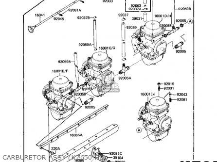 Kawasaki Kz650h3 Csr 1983 Usa Canada Carburetor Assy kz650-h2