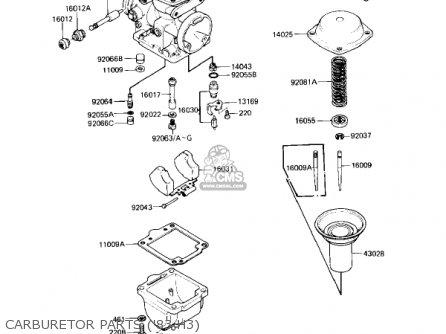 Kawasaki Kz650h3 Csr 1983 Usa Canada Carburetor Parts 83 H3