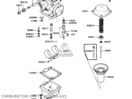 Kawasaki Kz650h3 Csr 1983 Usa Canada Carburetor Parts kz650-h2