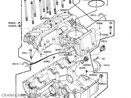 Kawasaki Kz650h3 Csr 1983 Usa Canada Crankcase 81-82 H1 h2