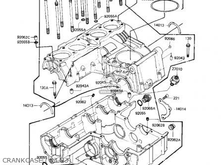 Kawasaki Kz650h3 Csr 1983 Usa Canada Crankcase 83 H3