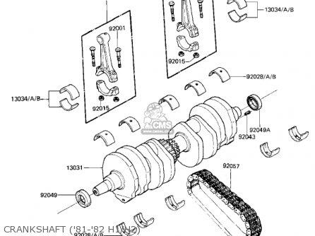 Kawasaki Kz650h3 Csr 1983 Usa Canada Crankshaft 81-82 H1 h2