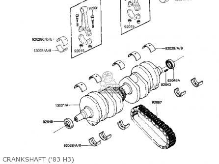 Kawasaki Kz650h3 Csr 1983 Usa Canada Crankshaft 83 H3