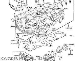Kawasaki Kz650h3 Csr 1983 Usa Canada Cylinder Head 81-82 H1 h2
