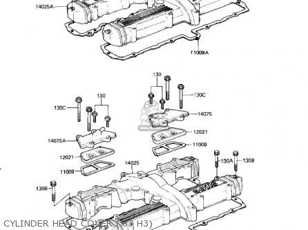 Kawasaki Kz650h3 Csr 1983 Usa Canada Cylinder Head Cover 83 H3