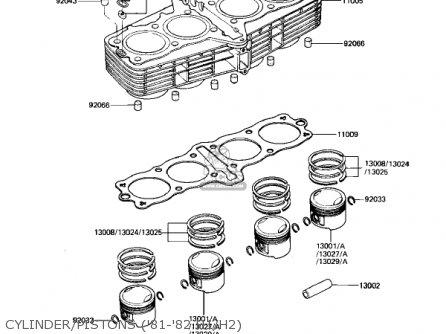 Kawasaki Kz650h3 Csr 1983 Usa Canada Cylinder pistons 81-82 H1 h2