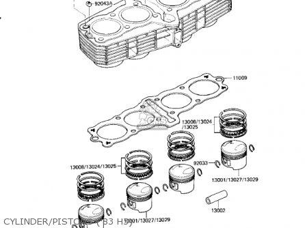 Kawasaki Kz650h3 Csr 1983 Usa Canada Cylinder pistons 83 H3