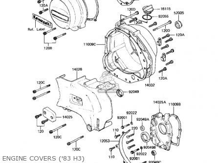 Kawasaki Kz650h3 Csr 1983 Usa Canada Engine Covers 83 H3
