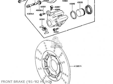 Kawasaki Kz650h3 Csr 1983 Usa Canada Front Brake 81-82 H1 h2