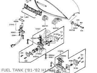 Kawasaki Kz650h3 Csr 1983 Usa Canada Fuel Tank 81-82 H1 h2