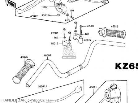 Kawasaki Kz650h3 Csr 1983 Usa Canada Handlebar kz650-h1