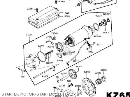 Kawasaki Kz650h3 Csr 1983 Usa Canada Starter Motor starter Clutch kz