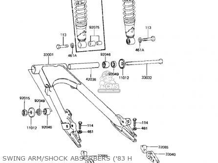 Kawasaki Kz650h3 Csr 1983 Usa Canada Swing Arm shock Absorbers 83 H