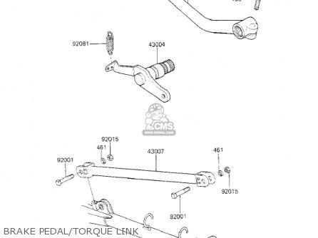 Kawasaki Kz700a1 1984 Usa California Brake Pedal torque Link