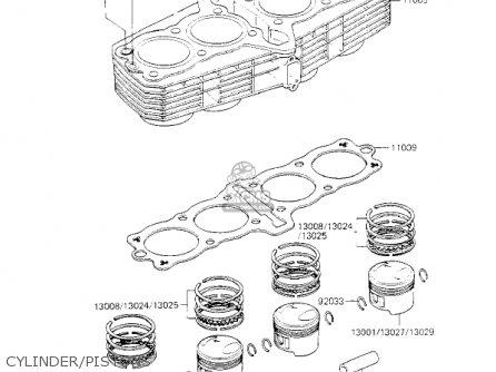 Kawasaki Kz700a1 1984 Usa California Cylinder pistons