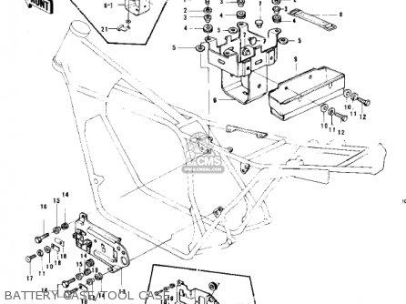 Kawasaki Kz750b1 1976 Usa Canada   Mph Kph Battery Case tool Case