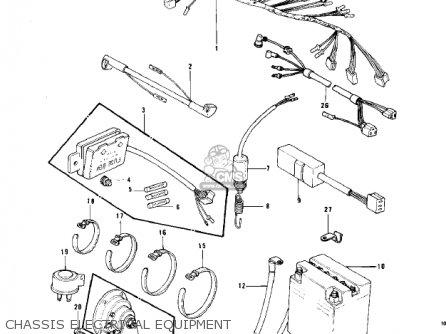 Kawasaki Kz750b1 1976 Usa Canada   Mph Kph Chassis Electrical Equipment