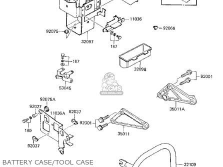Kawasaki Kz750k1 1983 Usa Canada   Ltd Belt Drive Battery Case tool Case