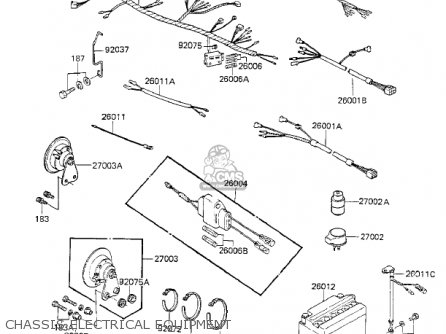 Kawasaki Kz750k1 1983 Usa Canada   Ltd Belt Drive Chassis Electrical Equipment