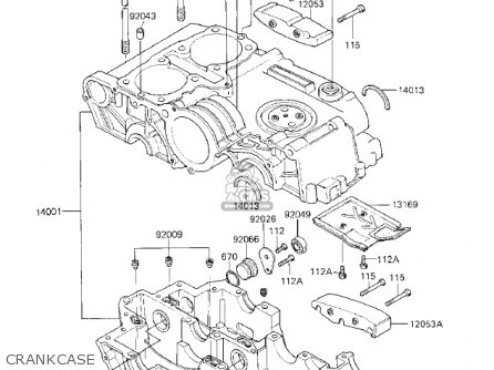 Kawasaki Kz750k1 1983 Usa Canada   Ltd Belt Drive Crankcase