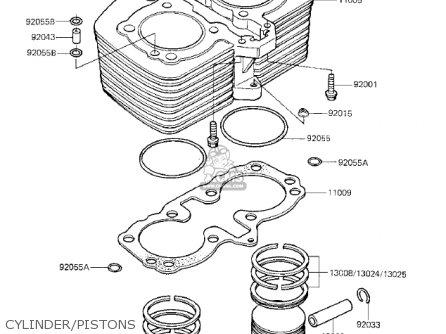 Kawasaki Kz750k1 1983 Usa Canada   Ltd Belt Drive Cylinder pistons