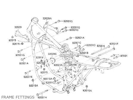 Kawasaki Kz750k1 1983 Usa Canada   Ltd Belt Drive Frame Fittings