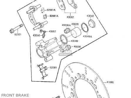 Kawasaki Kz750k1 1983 Usa Canada   Ltd Belt Drive Front Brake
