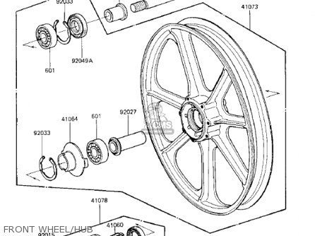 Kawasaki Kz750k1 1983 Usa Canada   Ltd Belt Drive Front Wheel hub
