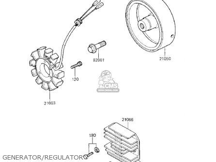 Kawasaki Kz750k1 1983 Usa Canada   Ltd Belt Drive Generator regulator