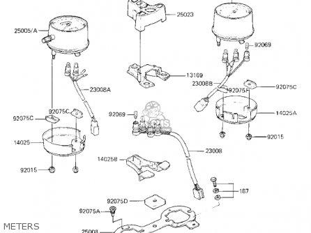 Kawasaki Kz750k1 1983 Usa Canada   Ltd Belt Drive Meters