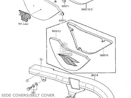 Kawasaki Kz750k1 1983 Usa Canada   Ltd Belt Drive Side Covers belt Cover