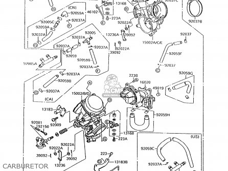 Kawasaki Vulcan 500 Carburetor Diagram
