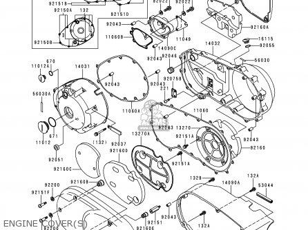 kawasaki vn1500e1 vulcan 1500 classic 1998 usa california canada 1997 Kawasaki Vulcan 1500 Wiring Diagram engine cover s kawasaki vn1500e1 vulcan 1500 classic 1998 usa california canada fuel pump fuel pump