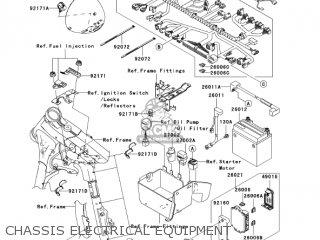 kawasaki vn1600a7fa vulcan 1600 classic 2007 usa california chassis  electrical equipment