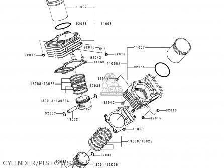Kawasaki Vn400c4 Vulcan Classic 1994 Greece Cylinder pistons