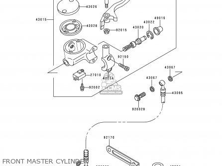 Kawasaki Vn400c4 Vulcan Classic 1994 Greece Front Master Cylinder