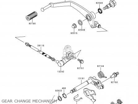 Kawasaki Vn400c4 Vulcan Classic 1994 Greece Gear Change Mechanism