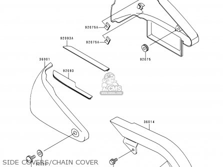 Kawasaki Vn400c4 Vulcan Classic 1994 Greece Side Covers chain Cover