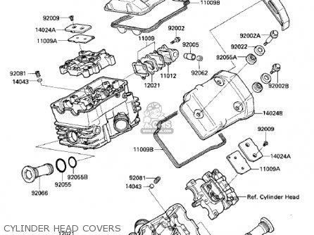 Kawasaki Vn700a1 Ltd 1985 Usa California Cylinder Head Covers