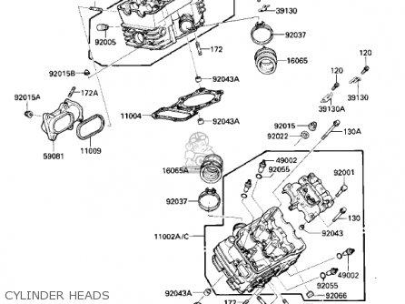 Kawasaki Vn700a1 Ltd 1985 Usa California Cylinder Heads