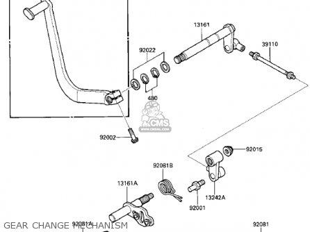 Kawasaki Vn700a1 Ltd 1985 Usa California Gear Change Mechanism