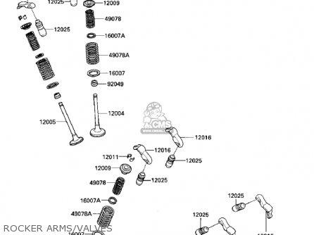 Kawasaki Vn700a1 Ltd 1985 Usa California Rocker Arms valves