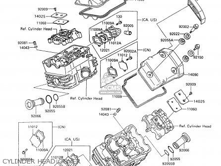 Kawasaki Vn750a14 Vulcan 750 1998 Usa California Parts Lists And