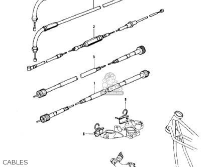 Kawasaki Z1 B 1975 Usa Cables