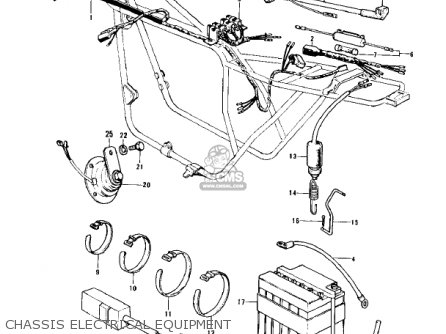 Kawasaki Z1 B 1975 Usa Chassis Electrical Equipment