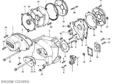 Kawasaki Z1 B 1975 Usa Engine Covers