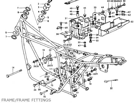 Kawasaki Z1 B 1975 Usa Frame frame Fittings
